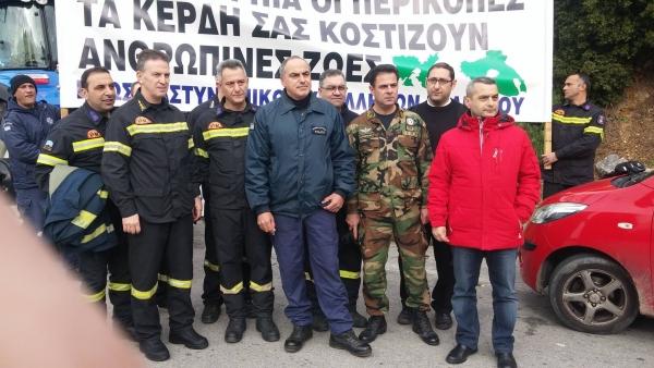 Συμμετοχή στην πορεία των αγροτών Ν. Λέσβου